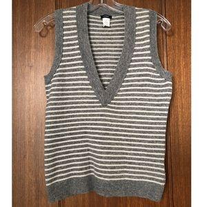 Vintage J.Crew Striped Sweater Vest